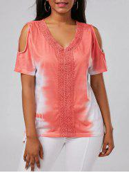 Tie Dye Cold Shoulder Tunic Tee