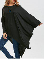 Batwing Sleeve Asymmetrical Tunic Top