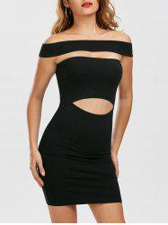 Cut Out Off Shoulder Fitted Tight Dress