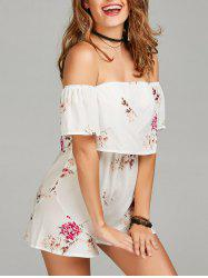 Floral Print Off The Shoulder Romper