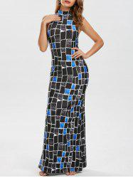 Cut Out Long Maxi Bodycon Dress