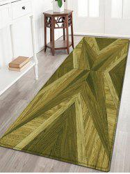 Woodgrain Pattern Water Absorption Flannel Area Rug