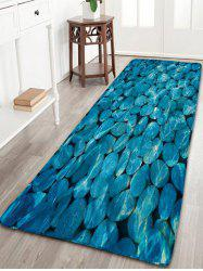 Pebbles Pattern Flannel Antiskid Bathroom Rug