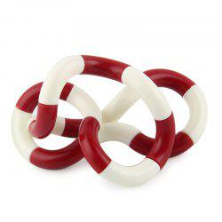 Fidget Twist Tangle Toy Stress Reliever - Rouge Et Blanc