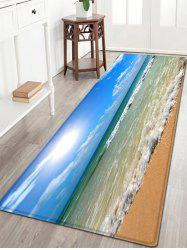 Beach Sea Wave Pattern Water Absorption Flannel Area Rug
