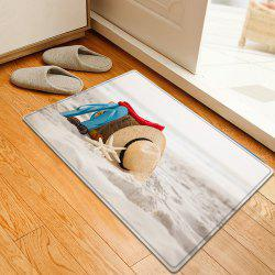 Beach Holiday Pattern Water Absorption Flannel Area Rug