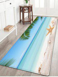 Starfish Beach Pattern Water Absorption Flannel Floor Rug
