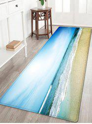Sea Wave Beach Pattern Water Absorption Flannel Area Rug