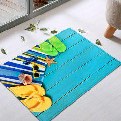 Flip Flop Wood Pattern Water Absorption Flannel Area Rug