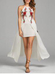 Openwork Floral Embroidered Slip Dress