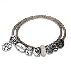 Bracelet Engraved Tree of Love Love Charm - Gris