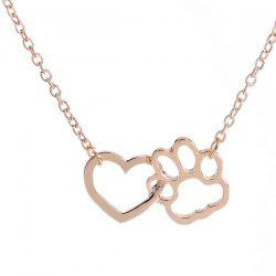 Hollowed Heart Claw Pendant Necklace
