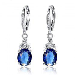 Faux Crystal Drop Earrings For Women