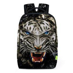 3D Lion Printed Backpack - BLACK