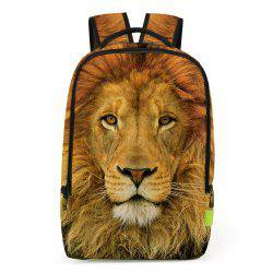 3D Lion Printed Backpack