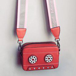 Tape Shaped Crossbody Bag with 2 Straps