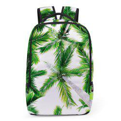 Palm Print Padded Strap Backapck - GREEN