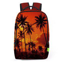Palm Print Padded Strap Backapck