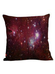 Star Sky Decorative Linen Pillow Case - PURPLISH RED