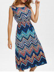 Zigzag Midi Dress - COLORMIX