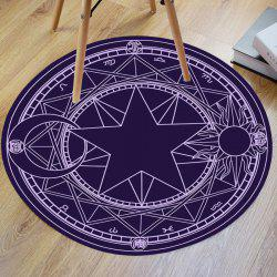 Crystal Velvet Fabric Magic Circle Round Bathroom Rug