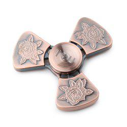 I Love You Rose Flower Tri-bar EDC Fidget Metal Spinner