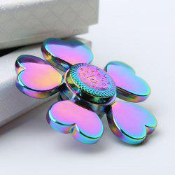 Stress Reducer Rainbow Heart Blades Fidget Spinner - COLORFUL