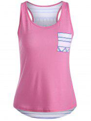 Geometric High Low Racerback Tank Top