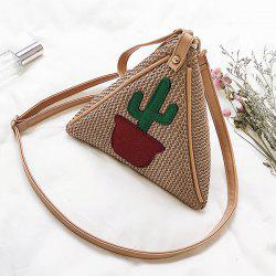Triangle Shaped Woven Wristlet