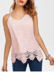 Lace Trim Embroidered Camis