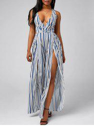 Plunge Knot Slit Cut Out Jumpsuit