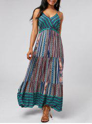 Bohemian Printed Maxi Slip Dress