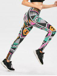 High Waist Geometric Print Leggings