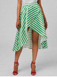 Stripe High Low Skirt