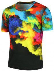 Short Sleeves 3D Tie Dyed Tee