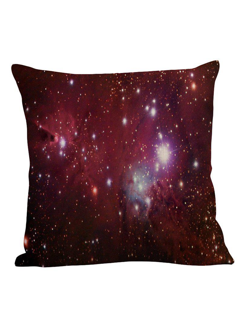 Star Sky Decorative Linen Pillow CaseHOME<br><br>Size: 45*45CM; Color: PURPLISH RED; Material: Polyester / Cotton; Fabric Type: Linen; Pattern: Printed; Style: Modern/Contemporary; Shape: Square; Weight: 0.1000kg; Package Contents: 1 x Pilow Case;