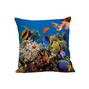 3D Underwater Fish Decorative Pillow Case