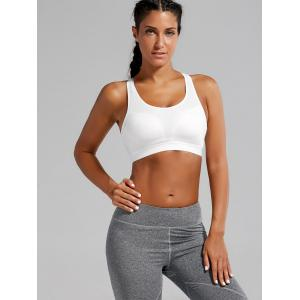 Strappy Padded Criss Cross Sports Bra -