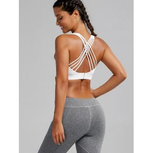 Soutien-gorge de sport Strappy Paded Criss Cross - Blanc S