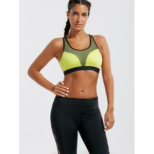 Soutien-gorge de sport Strappy Paded Criss Cross -