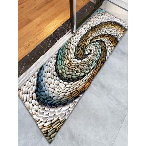 Bathroom Flannel Whirlwind Pebbles Skidproof Rug -