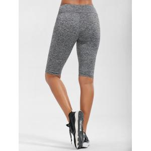 High Rise Knee Length Leggings with Pockets -