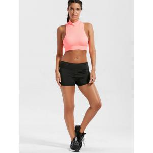 Mini Gym Running Shorts with Pockets - BLACK M