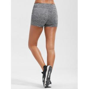 Mini Gym Running Shorts with Pockets - SMOKY GRAY XL