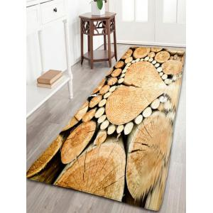 Love Heart Wood Flannel Skid Resistant Bathroom Rug