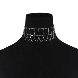 Metal Alloy Geometric Collarbone Necklace