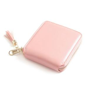 Tassel Zipper Around Small Wallet - Pink