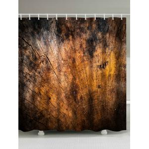 Vintage Broken Wood Extra Long Shower Fabric Curtain - Wood - W71 Inch * L79 Inch