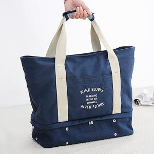 Canvas Graphic Printed Storage Tote Bag -