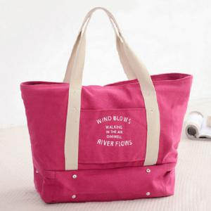 Canvas Graphic Printed Storage Tote Bag - Rose Red - 40
